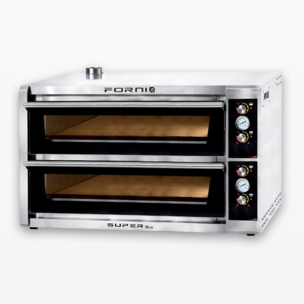 Twelve pizza oven with digital control
