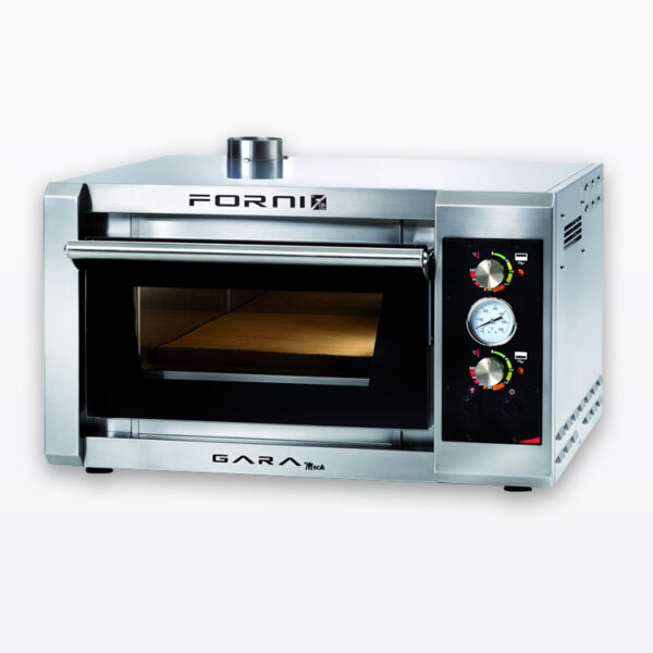 One pizza fast baking oven with electromechanical control